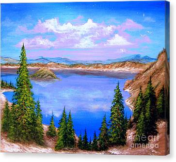 Crater Lake Oregon Canvas Print by Patrice Torrillo