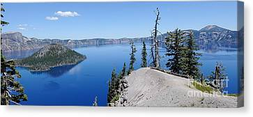 Crater Lake Scenic Panorama Canvas Print by John Kelly