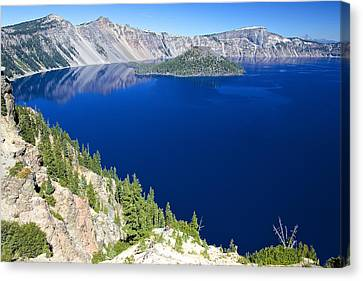 Canvas Print featuring the photograph Crater Lake Wizard Island 090910a by Todd Kreuter