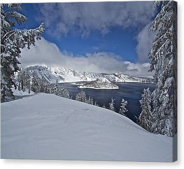 Canvas Print featuring the photograph Crater Lake/ Wizard Island by Todd Kreuter