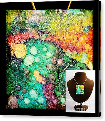 Crater Mountain Necklace Canvas Print by Alene Sirott-Cope