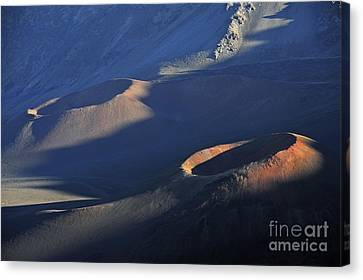 Craters At Sunset Canvas Print by Sami Sarkis