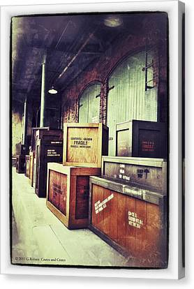Crates And Crates Canvas Print by Gerry Robins