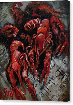 Crawdaddies Canvas Print by Carole Foret