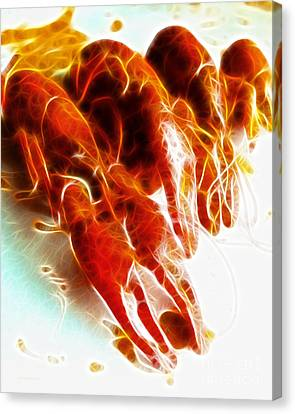 Crawdads - Electric Canvas Print by Wingsdomain Art and Photography