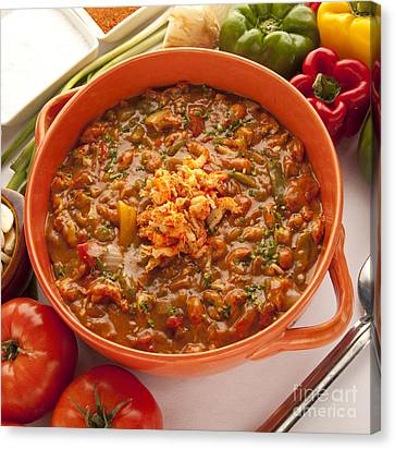Crawfish Etouffe Canvas Print by New  Orleans Food