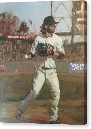 San Francisco Giants Canvas Print - Crawford Day Game by Darren Kerr