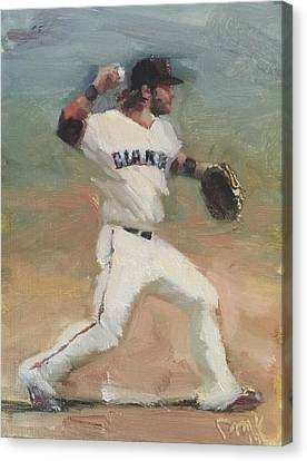 San Francisco Giants Canvas Print - Crawford Sketch by Darren Kerr