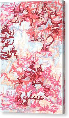 Crawling Pink Canvas Print