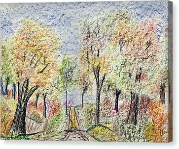 Crayon Road Canvas Print by Michael Anthony Edwards