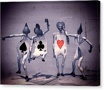 Bizarre Canvas Print - Crazy Aces by Bob Orsillo