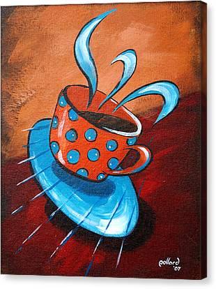 Crazy Coffee Canvas Print