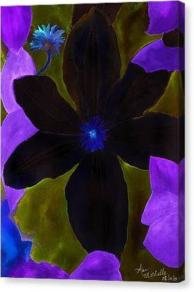 Crazy Exposure Clematis Canvas Print by Ann Michelle Swadener