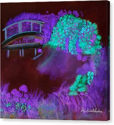 Crazy Exposure Mary's Bridge Canvas Print by Ann Michelle Swadener