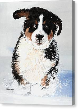Crazy For Snow Canvas Print by Liane Weyers