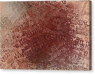 Crazy Grunge Type Abstract Canvas Print by Andrea Auletta