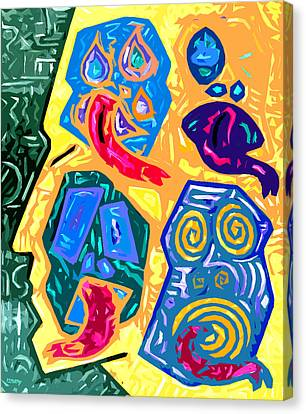 Crazy Head 2 Canvas Print by Patrick J Murphy