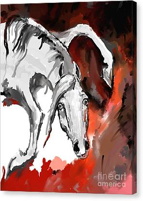 Crazy Horse Canvas Print - Crazy Horse 7 by Angel  Tarantella