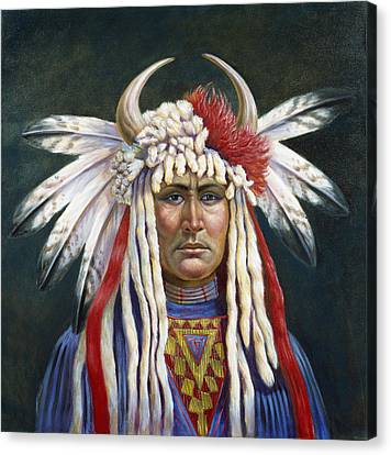 Crazy Horse Canvas Print by Gregory Perillo