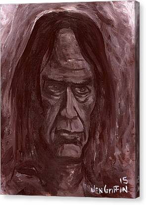 Crazy Horse Canvas Print by Jon Griffin