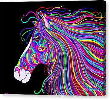 Crazy Horse Canvas Print - Crazy Horse by Nick Gustafson