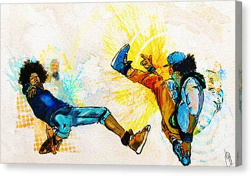 Crazy Legs Canvas Print by Howard Barry