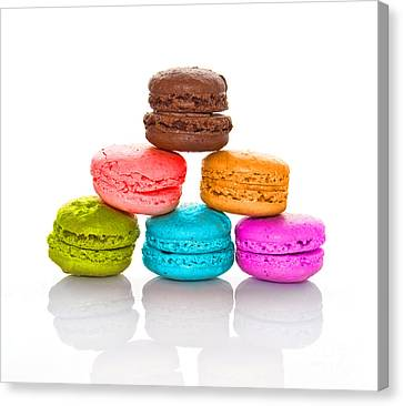 Crazy Macarons 2 Canvas Print by Delphimages Photo Creations