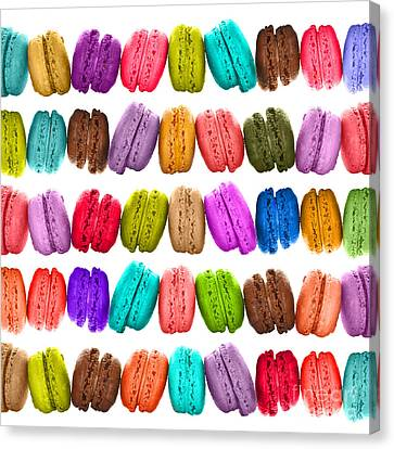 Crazy Macarons  Canvas Print by Delphimages Photo Creations
