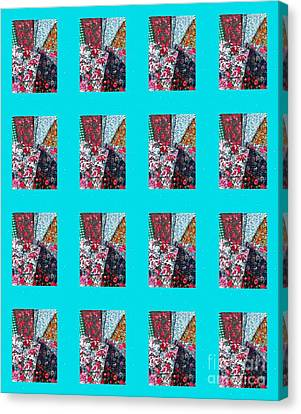 Crazy Quilt With Turquoise  Canvas Print by Barbara Griffin