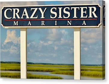 Crazy Sister Marina Canvas Print by Cynthia Guinn