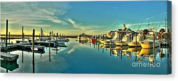 Canvas Print featuring the photograph Crazy Sisters Marina by Ed Roberts