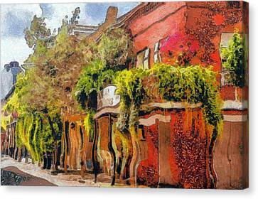 Crazy Whimsy Wacky New Orleans Canvas Print by Christine Till