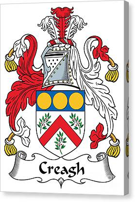 Creagh Coat Of Arms II Irish Canvas Print