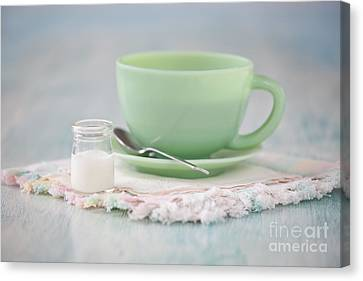 Cream And Coffee Canvas Print by Kay Pickens