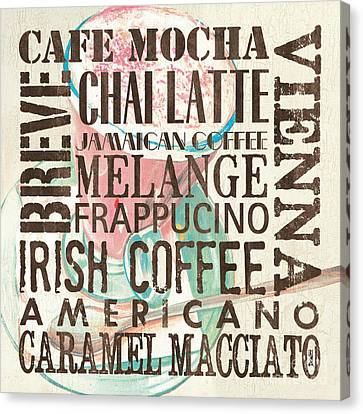 Cream Coffee Of The Day 1 Canvas Print by Debbie DeWitt