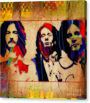 Eric Canvas Print - Cream Eric Clapton Jack Bruce Ginger Baker by Marvin Blaine
