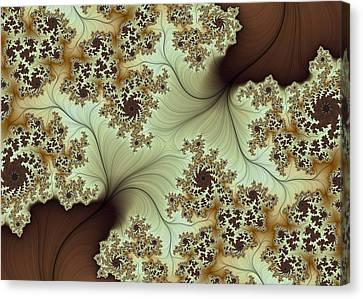 Canvas Print featuring the digital art Creamed Coffee by Lea Wiggins
