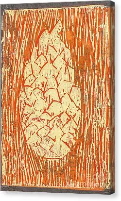 Lino Canvas Print - Creamy Pine Cone by Amanda Elwell