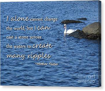 Create Many Ripples Canvas Print