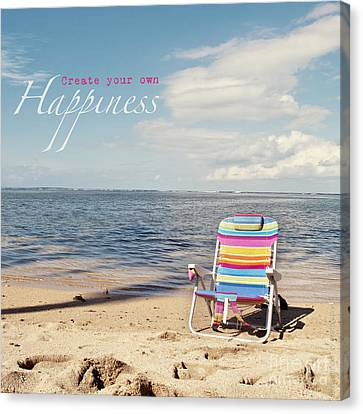 Create Your Own Happiness Canvas Print