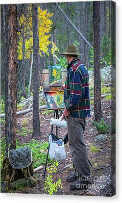 Creating A Masterpiece Canvas Print by Kim Michaels