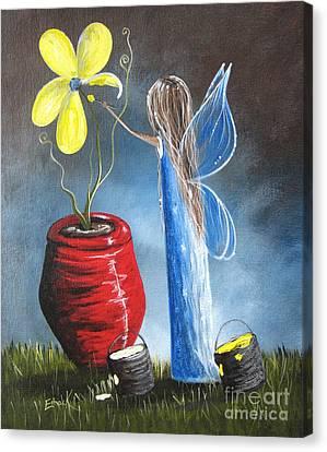 Creating Tomorrow Fairy By Shawna Erback Canvas Print by Shawna Erback