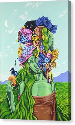 Creation Of Eve Canvas Print by Charles Luna