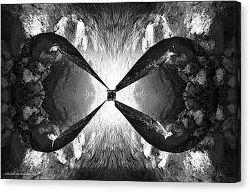 Creation Of Man Black And White Canvas Print by LeeAnn McLaneGoetz McLaneGoetzStudioLLCcom