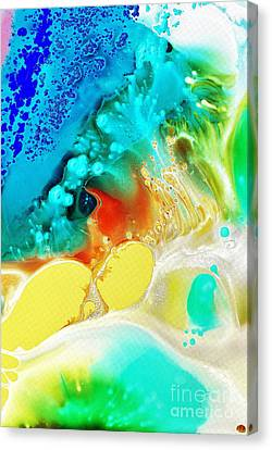 Canvas Print featuring the painting Creation Wave by Christine Ricker Brandt