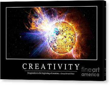 Creativity Inspirational Quote Canvas Print
