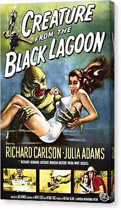 Creature From The Black Lagoon Lobby Poster 1954 Canvas Print by Daniel Hagerman