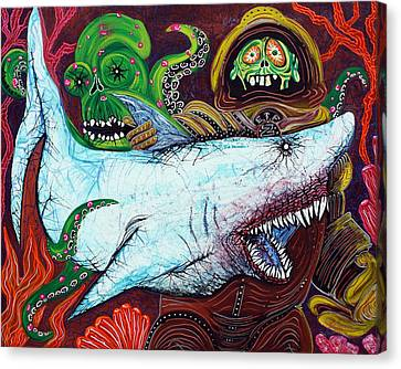 Creatures Of The Deep Canvas Print by Laura Barbosa
