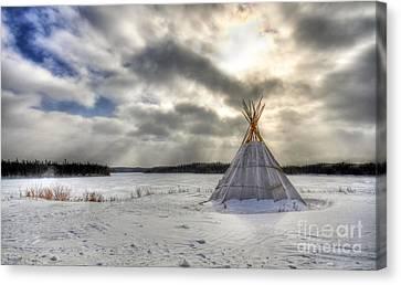 Cree Tepee Canvas Print