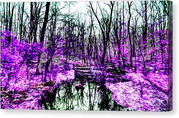 Creek By Purple Canvas Print